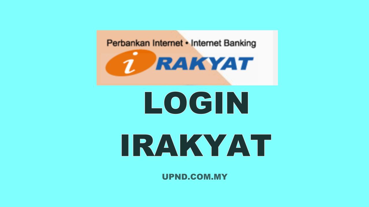 irakyat login ke dalam sistem perbankan internet Bank Rakyat
